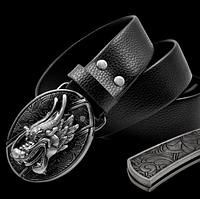 Мужской кожаный ремень с ножом. Модель 2149, фото 1