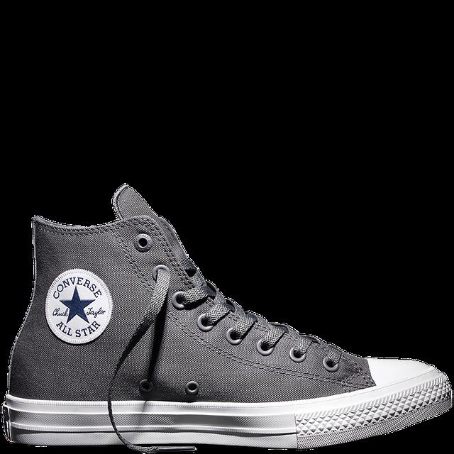 Кеды Converse All Star II высокие серые топ реплика