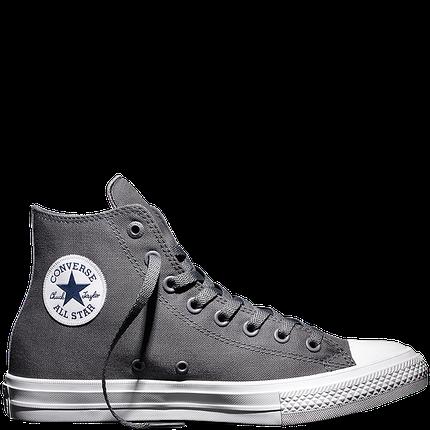 Кеды Converse All Star II высокие серые топ реплика, фото 2