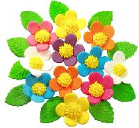 """Набор цветов из мастики для куличей  """"Весенние цветы"""""""