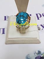 Серебряное кольцо со вставкой бирюза.