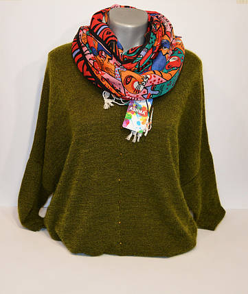 Оранжевый женский шарф Ashma, фото 2