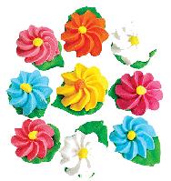 """Набор цветов из мастики для куличей  """"Маргаритки"""""""