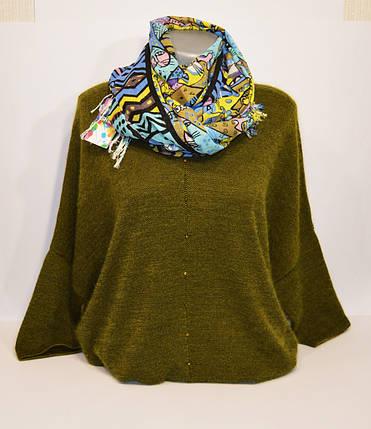 Голубой женский шарф Ashma, фото 2