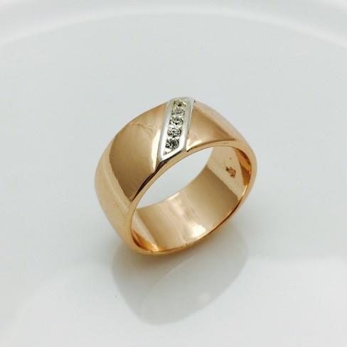 Кольцо широкое, размер 18
