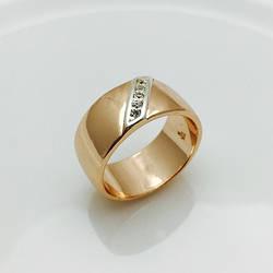 Кільце широке, розмір 20, 21, 22 ювелірна біжутерія Fallon Jewelry