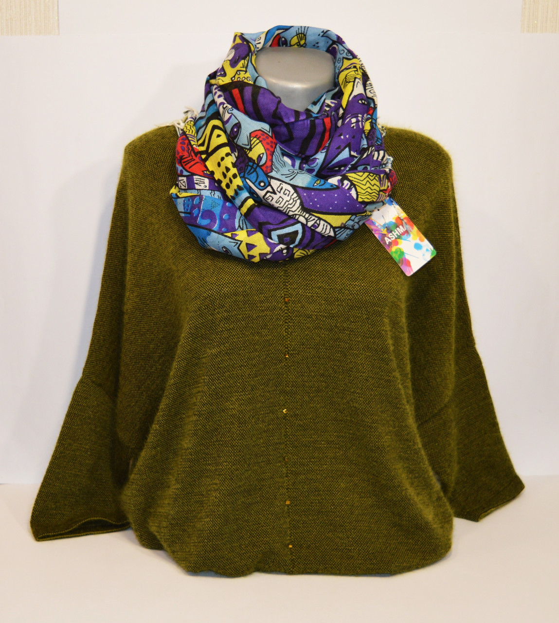 Фиолетовый женский шарф Ashma