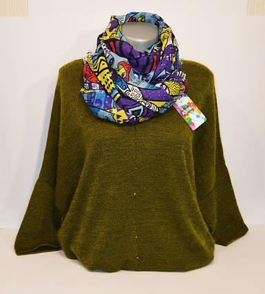 Фиолетовый женский шарф Ashma, фото 2