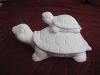 Гіпсова фігурка для розмальовки. Гипсовая фигурка для раскраски. Черепаха на черепасі 6×11.5 см