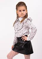 """Модная детская юбка для девочки """"Ирида"""" черная"""