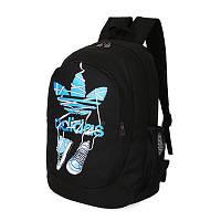 Спортивный рюкзак Adidas черный с кедами