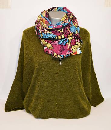 Бордовый женский шарф Ashma, фото 2