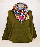 Бордовый женский шарф Ashma