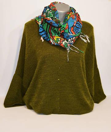 Зеленый женский шарф Ashma, фото 2