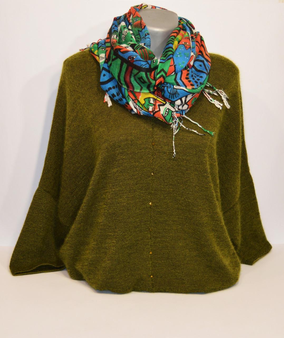 Зеленый женский шарф Ashma