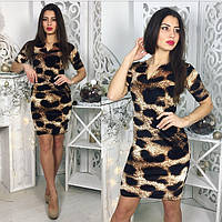 Женское леопардовое платье 8820