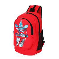 Рюкзак Adidas красный с кедами