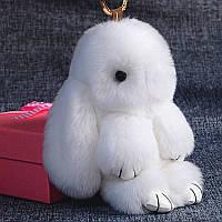 Брелок кролик из натурального меха, 20 см
