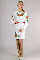 Трикотажное женское платье-вышиванка