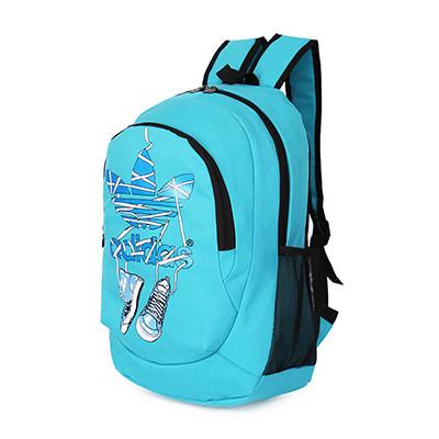Спортивный рюкзак Adidas голубой с кедами (реплика)
