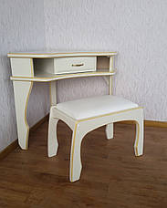 """Кутовий туалетний столик з дерева від виробника """"Дарина"""", фото 2"""
