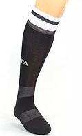 Гетры футбол мужские FIFA СО-5507-BK (х-б, нейлон, р.40-45, черный, белая полоса)