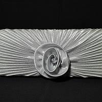 Сумка женская-клатч атласный серый