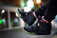 Кроссовки мужские Nike Air Yeezy 2 Black Solar