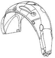 Подкрылок (брызговик) задний правый (внутренняя облицовка колёсной коробки) пластиковый GM 1101064 1201054 1221004 1121095 1121081 22816845 20939998