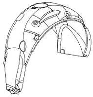 Подкрылок (брызговик) задний левый (внутренняя облицовка колёсной коробки) пластиковый GM 1101065 1201053 1221003 1121094 1121080 22816846 20939997