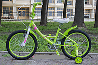 Велосипед детский двухколесный 16 дюймов Azimut Kathy салатовый