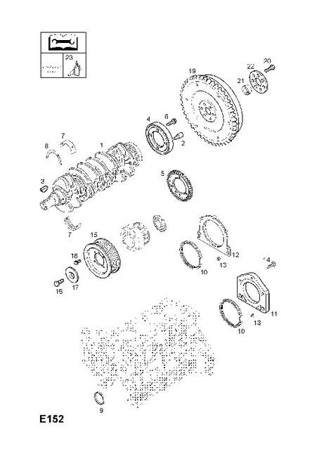 Шестерня (кольцо, ротор) датчика оборотов коленвала GM 0616878 97287961 Z17DTL Z17DTH OPEL ASTRA-G ASTRA-H