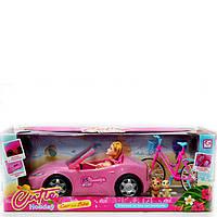 Машина Кабриолет с куклой и велосипедом