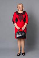 Нарядное платье с ажурными вставками Шарлиз М263