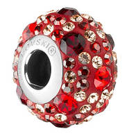 Шарми Swarovski в стилі Pandora 181504 Crystal Rose Gold, Light Peach, Light Siam, Siam