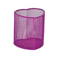 """Подставка для ручек в форме сердца """"ZB.3102-10"""", розовая"""
