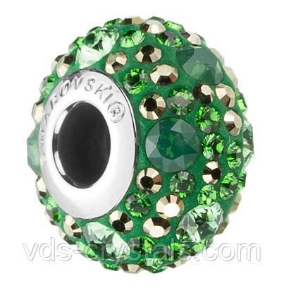 Шарми в стилі Pandora від Swarovski 181504 Metallic Light Gold, Dark Moss Green, Erinite, Green Palace Opal