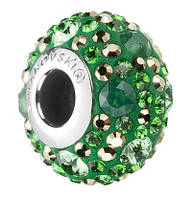 Шармы в стиле Pandora от Swarovski 181504 Metallic Light Gold, Dark Moss Green, Erinite, Palace Green Opal