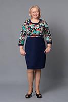 Повседневное платье с цветами Мэри М117