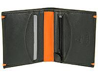 Мужское портмоне Visconti AP61 Brig черное с оранжевым