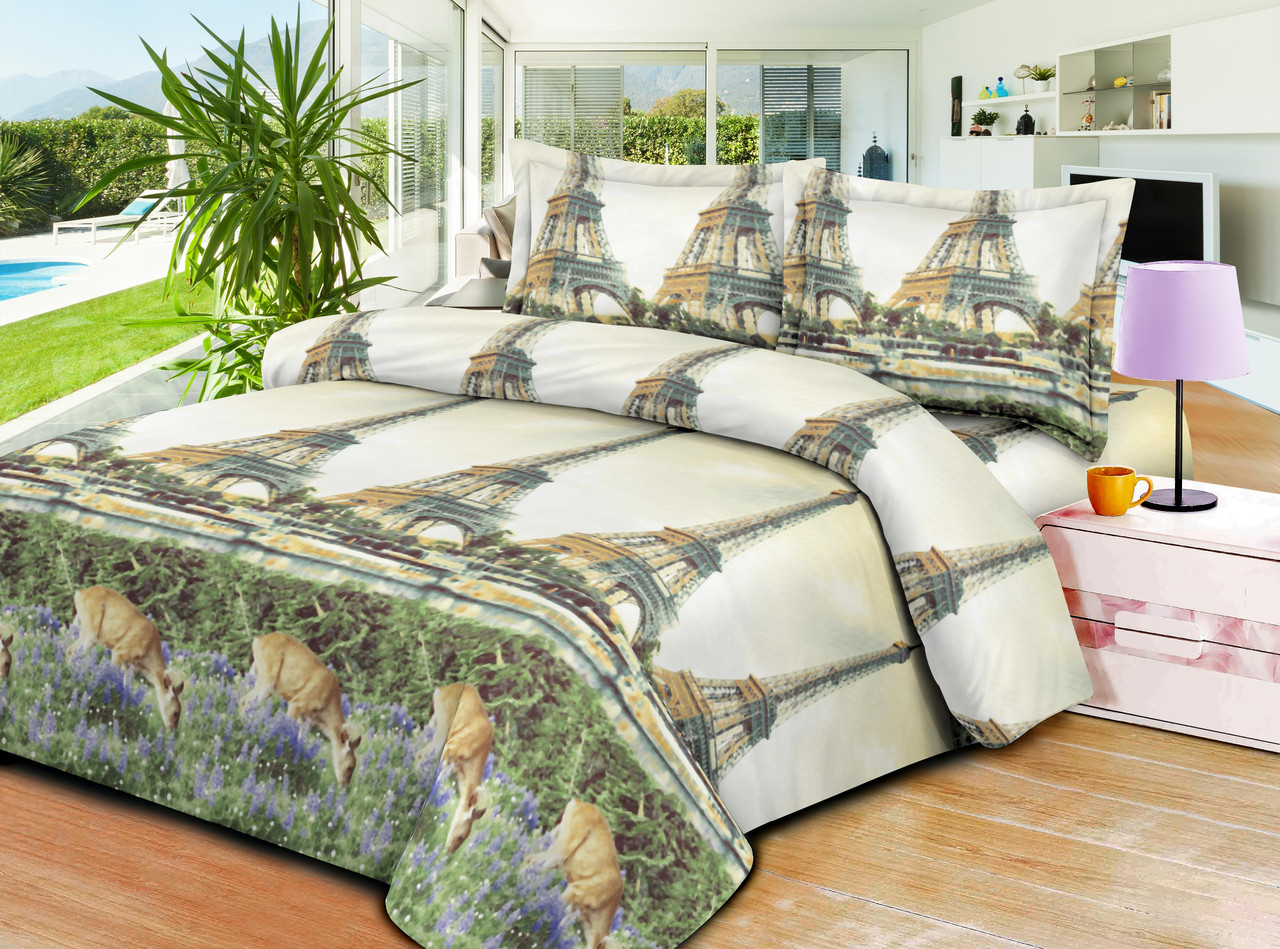 Качественное постельное белье ТЕП  RestLine 191 «Шанель» 3D дешево от производителя.