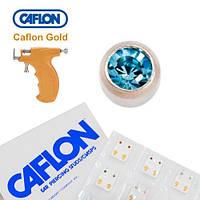 Серьги для прокола ушей Caflon Аквамарин 3 мм
