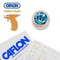 Серьги для прокола ушей Caflon Аквамарин 2 мм
