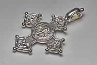 Крест серебро чернение
