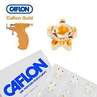 Серьги для прокола ушей Caflon позолота крапан Кристалл 3 мм