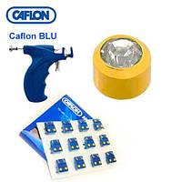 Серьги для прокола ушей Caflon с насадками позолота Кристалл 2 мм