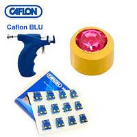 Серьги иглы Caflon с насадками позолота Турмалин 3 мм