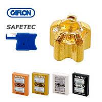 Серьги для прокола ушей Caflon Safe Tec позолота крапан Кристалл 3 мм