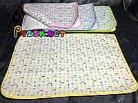 Пеленка-клеенка непромокаемая многоразовая желтая