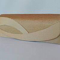 Сумка женская-клатч атласный золотой